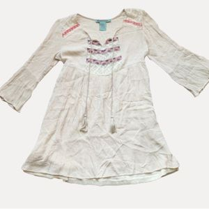 Flying Tomato Embroidered Peasant Mini Dress